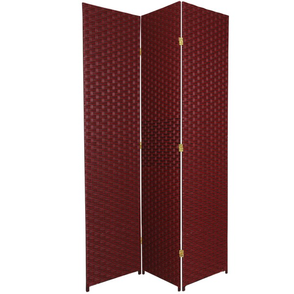 Oriental Furniture 7 Ft. Tall Woven Fiber Room Divider