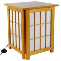 "19"" Hokkaido End Table Shoji Lamp - OrientalFurniture.com"
