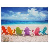 Beach Chairs Canvas Wall Art - OrientalFurniture.com