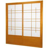 7 ft. Tall Eudes Shoji Sliding Door Kit (Double-Sided ...