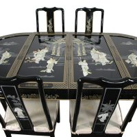 Lacquer Dining Room Set - Black Mother of Pearl ...