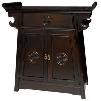 Rosewood Altar Cabinet - OrientalFurniture.com