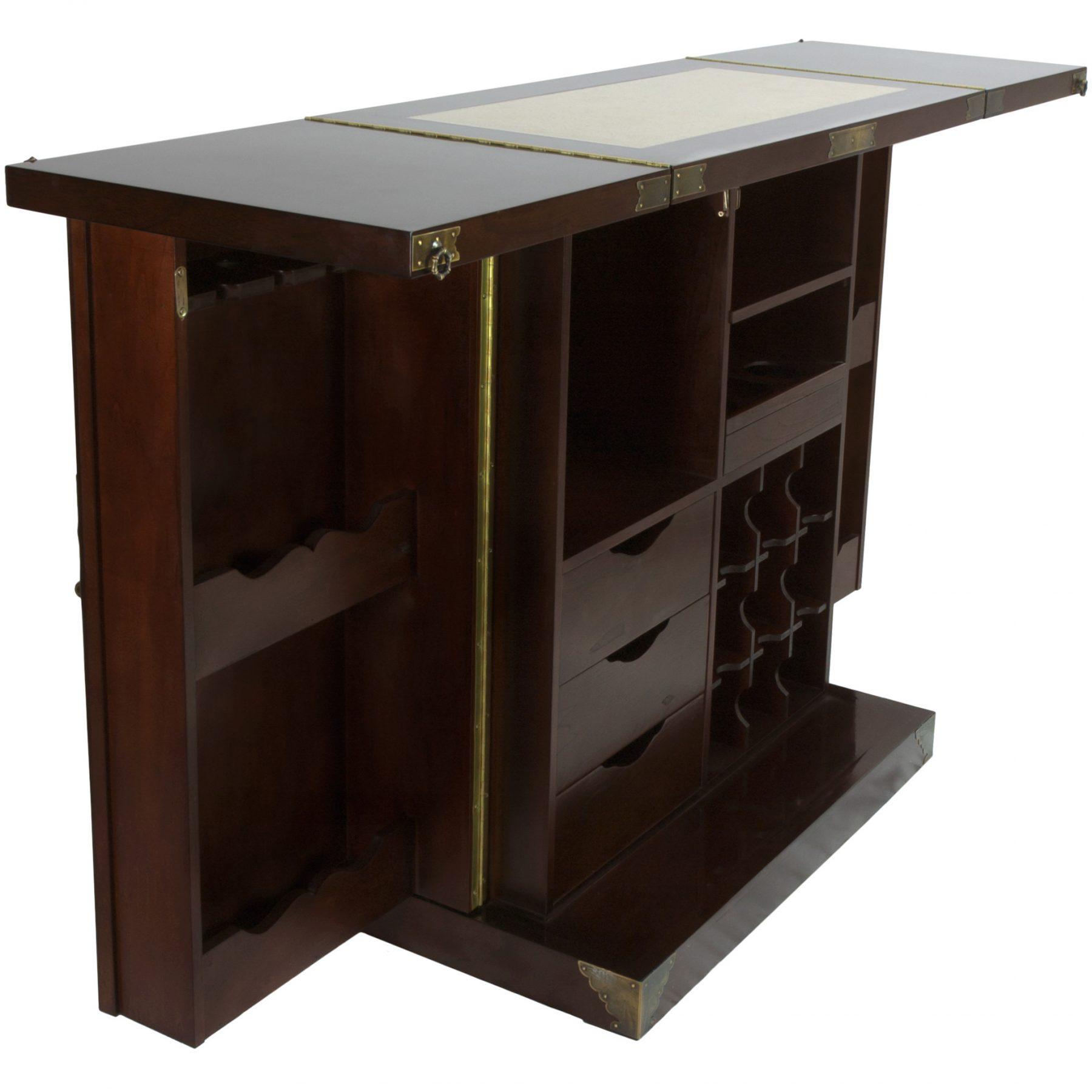 Oriental Furniture Korean Antique Style Liquor Cabinet