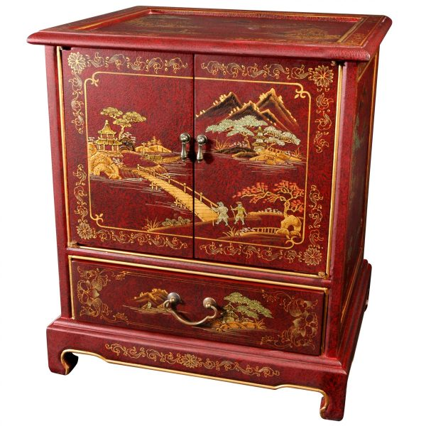 Hand-painted Japanese End Table