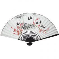 Clic Geisha An Oriental Woman Fan Decor Vinyl Wall Stickers Lover 39 S Bedroom Decals Mural Black Wallpaper J298