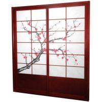 Oriental Furniture Cherry Blossom Shoji Sliding Door Kit ...