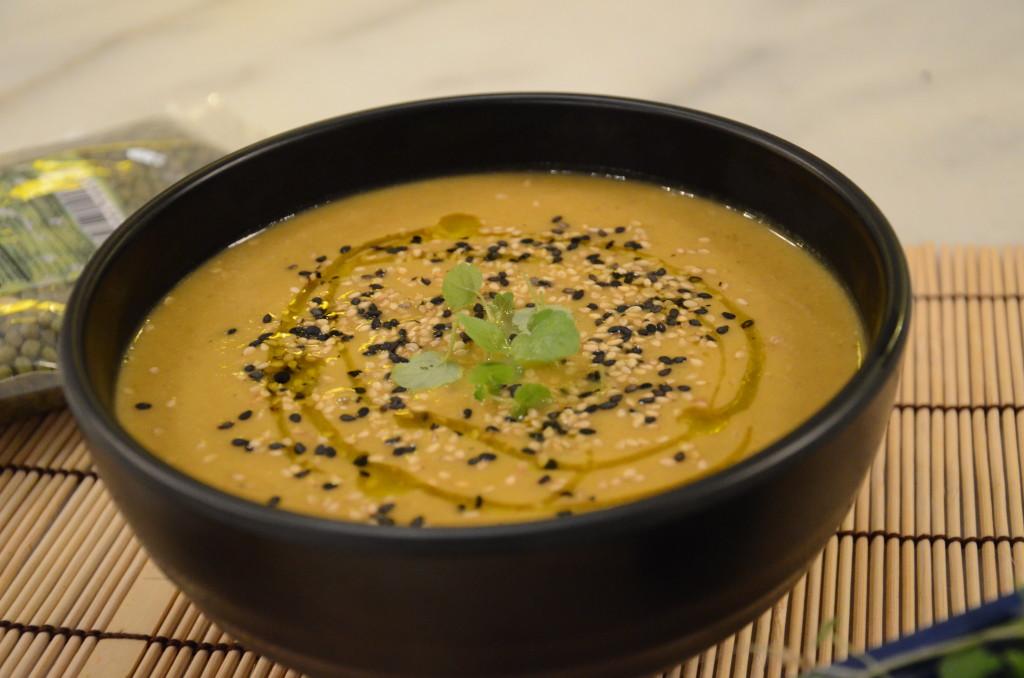Receta japonesa Crema de mungo  soja verde  y hortalizas  Oriental Market