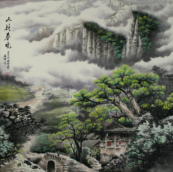 Morning In Mountain Village - Chinese Landscape