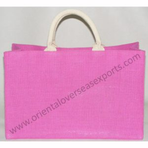 Dyed Jute Bag with lamination inside
