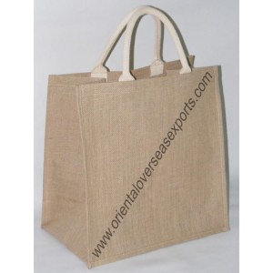 Jute Bag With Cotton Web Handles