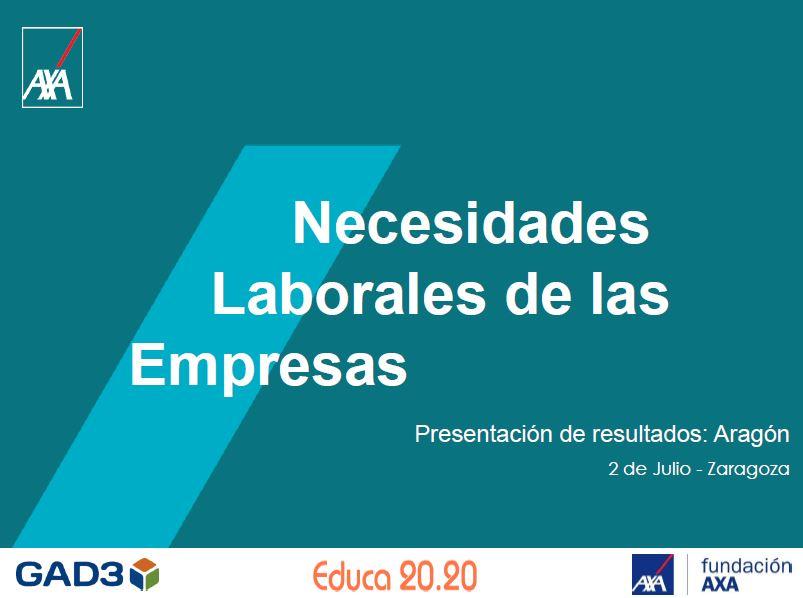 Necesidades laborales de las empresas Educa2020 Fundacion Axa 2018