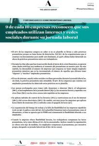 V Informe sobre Presentismo Laboral Adecco 2018
