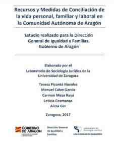 Estudio Medidas y Recursos de Conciliación de la vida personal, familiar y laboral en Aragón