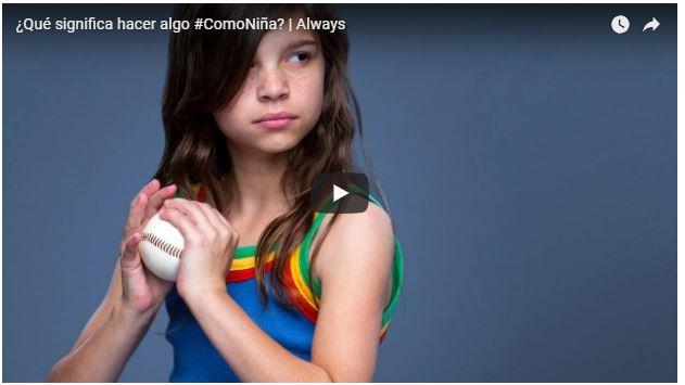 Video que significa hacer algo como niña