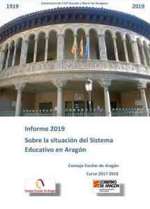 Informe sobre la situación del sistema educativo en Aragón. Curso 2017-2018 . Gobierno de Aragón 2019