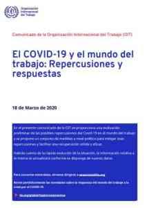 Informe El COVID-19 y el mundo del Trabajo 2020 OIT