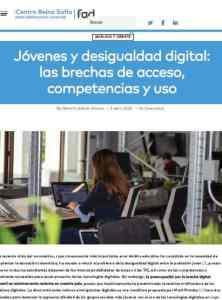 informe Jóvenes y desigualdad digital FAD 2020