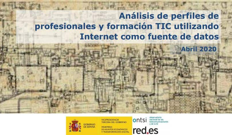 Resumen ejecutivo Analisis perfiles y formaciones TIC ONTSI 2020