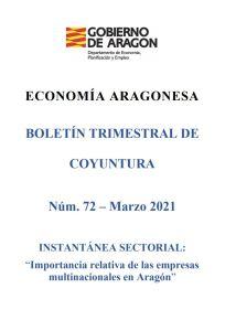Boletin Coyuntura economica Aragon marzo 2021