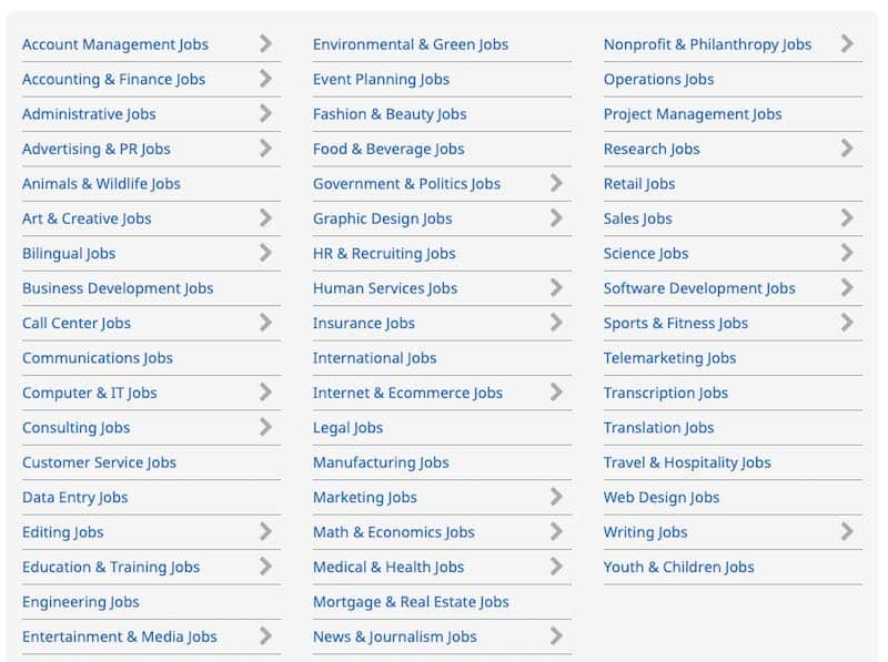 fexjobs categorie