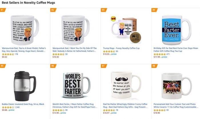 tazze in vendita su amazon