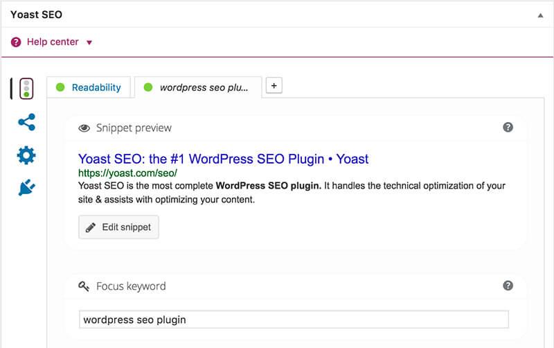 Blog SEO Plugin WordPress Yoast per l'ottimizzazione dei contenuti