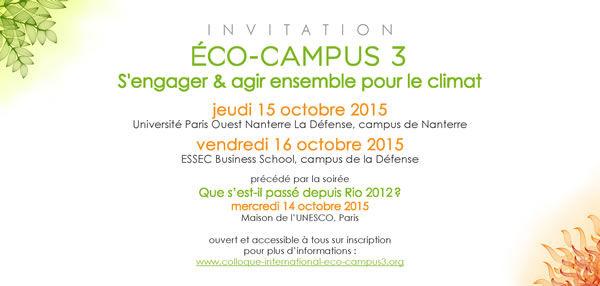 invitation eco-campus