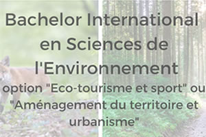 Bachelor international en sciences de l'environnement