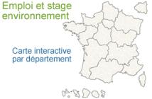 carte recrutements environnement en France