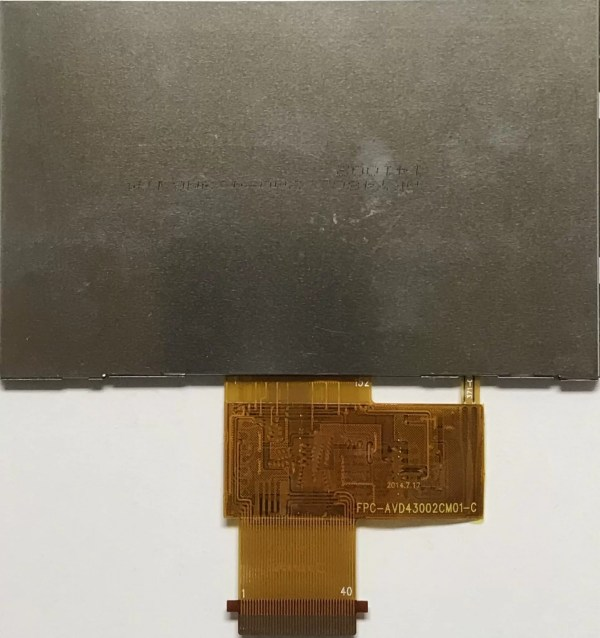 4.3 inch 480272 color TFT LCD display backside
