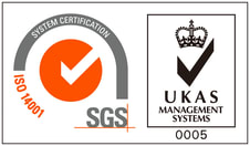 Orient Display Certificate: ISO14001 - SGS System Certification/UKAS Management Systems