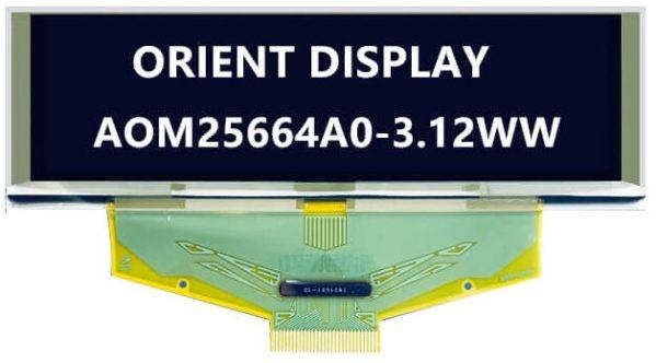 OLED da 3.12'', 256x64, monocromatico, interfaccia parallela/SPI