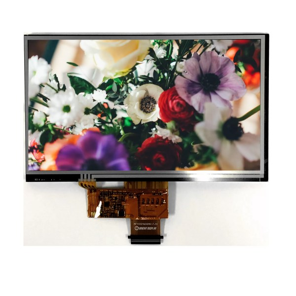 """7.0"""" Sunlight Readable IPS, 1024x600, 800 Nits with Resistive Touch Panel"""