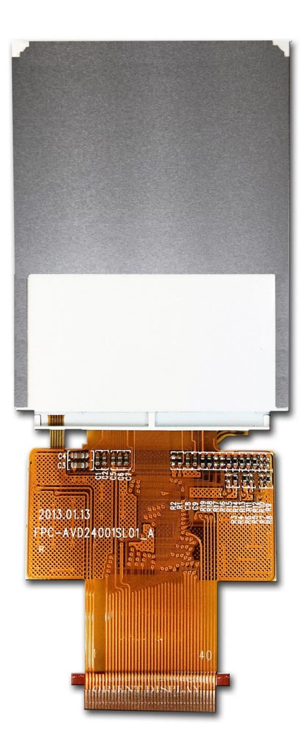 """2.4"""" TFT, 240x320, 220 Nits with Resistive Touch Panel"""