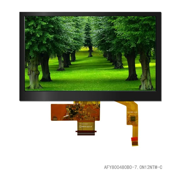 """7.0"""" TFT, 800x480, 420 Nits with Capacitive Touch Panel"""
