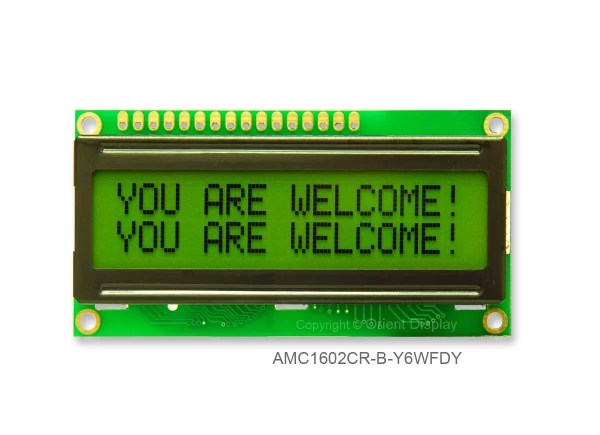 AMC1602CR-B-Y6WFDY (16x2 Character LCD Module)