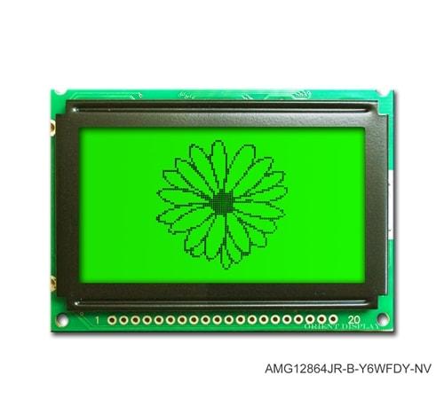"""AMG12864JR-B-Y6WFDY-NV (modulo LCD grafico da 2.4"""" 128x64)"""