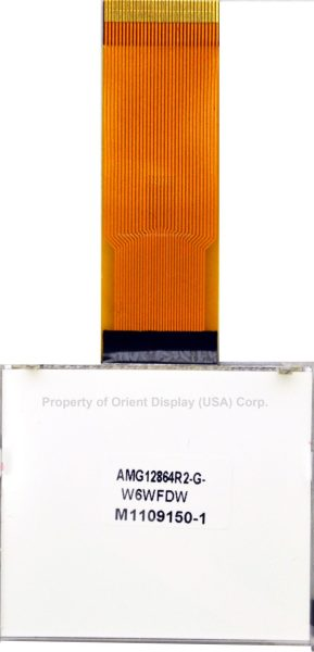 """AMG12864R2-G-W6WFDW (1.7"""" 128x64 COG LCD Module)"""