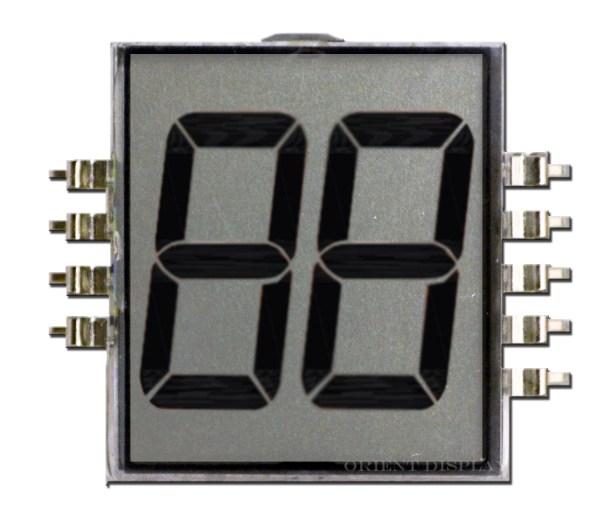 OD-202 (2-Digit LCD Glass Panel)
