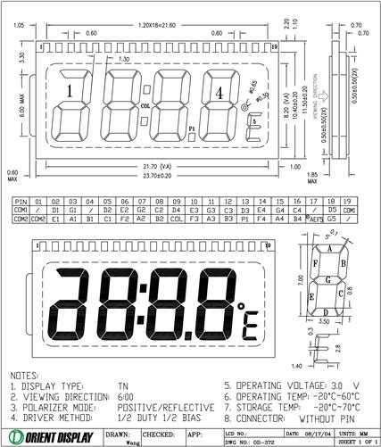 OD-372 (LCD Glass Panel)
