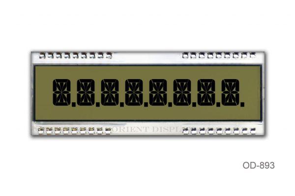 OD-893 (8 Digit LCD Glass Panel)