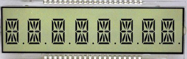 OD-894A (8 Digit LCD Glass Panel)