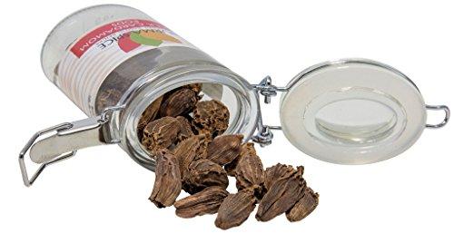 Black Cardamom Pods in Glass Spice Preserve Bottle, 1.1 oz