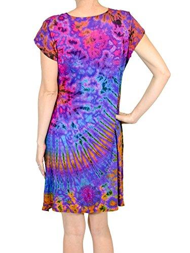 Orient-Trail-Womens-Boho-Tie-dye-Short-Sleeve-Cocktail-Cruise-Dress-0-0