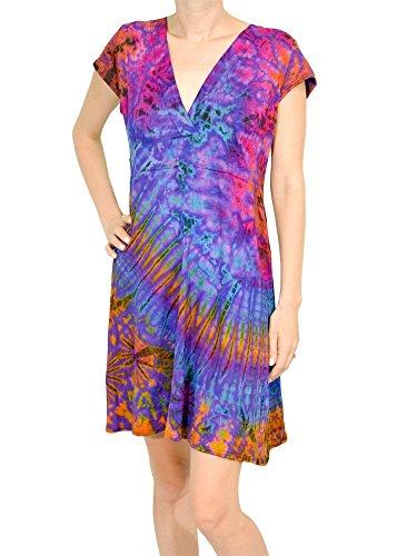 Orient-Trail-Womens-Boho-Tie-dye-Short-Sleeve-Cocktail-Cruise-Dress-0
