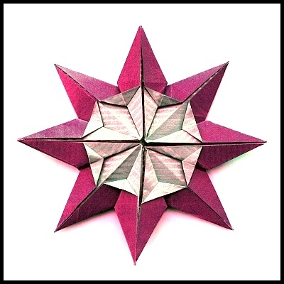 star flower origami diagram diagramming sentences declarative folding instructions klaus dieter ennen s