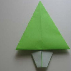 Christmas Origami Diagram Pioneer Avh X7800bt Be Nungsanleitung Easy Tree Folding Instructions How To Make An Step 8
