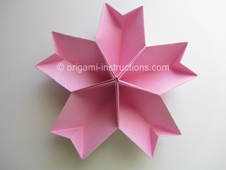 star flower origami diagram mitsubishi eclipse wiring stereo easy kusudama cherry blossom folding instructions step 1