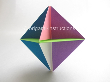 cool modular origami diagram easy volcano spinner folding instructions