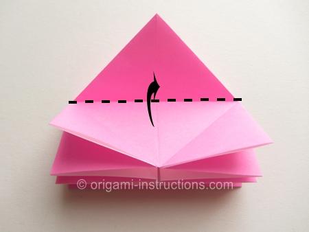origami flower instruction diagram xlr to 1 4 inch wiring easy twisty rose folding instructions step 9